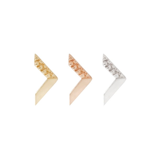 solid gold arrow earrings