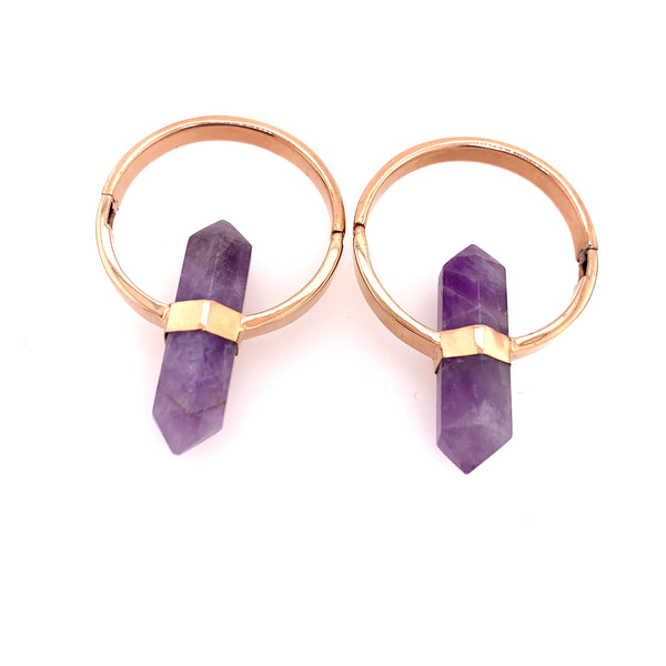 Alchemy Amethyst + Rose Gold Weights