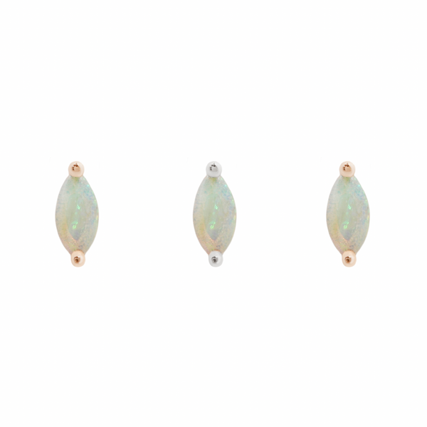 Zuri Marquise Opal in Solid Gold