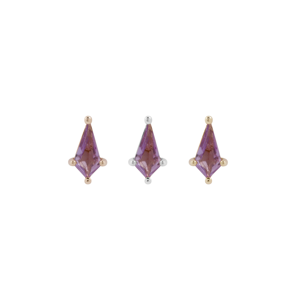 Mini Soho - Kite Cut Amethyst Piercing Jewelry