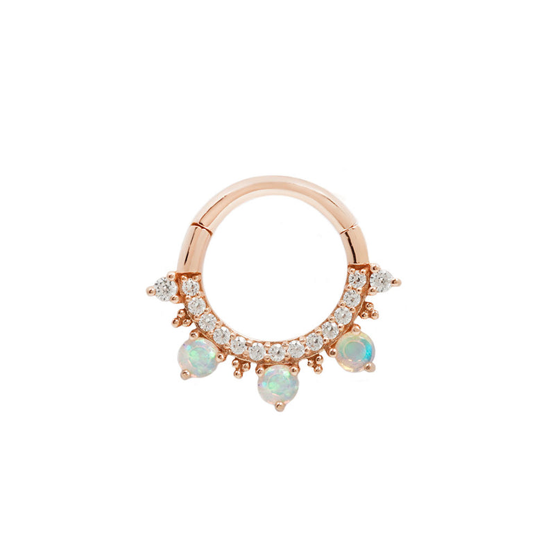 Gigi Opal + CZ Rose Gold Clicker