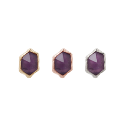Pump Up The Volume - Amethyst - Threadless End Piercing Jewelry