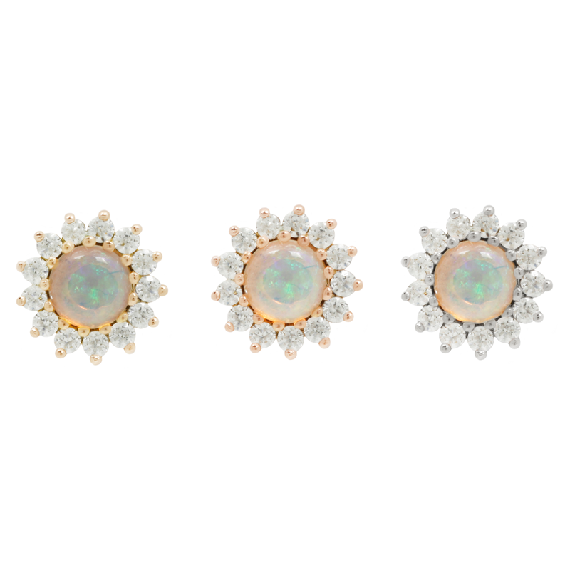 Delphine Opal + CZ in all gold