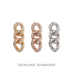 Chainlink - Genuine Diamond Threadless End