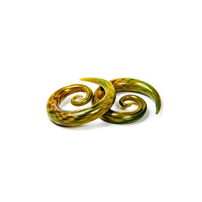 Exotic Green Glass Super Spiral