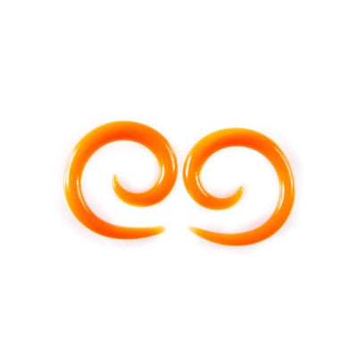 Orange Glass Simple Spiral