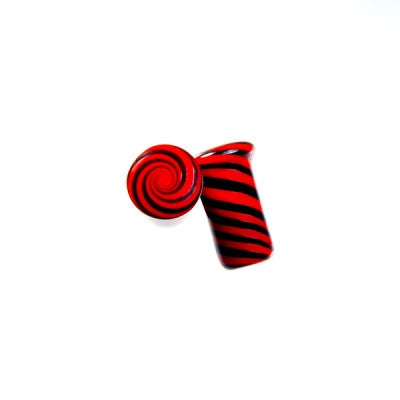 Red & Black Twist Glass Plug