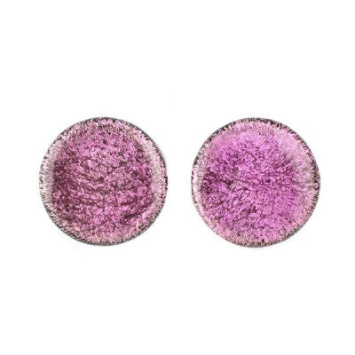 Pink Dichro Glass Plugs