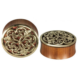Althea in Brass Coral Inlay Plug