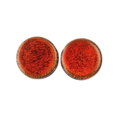 Red Dichro Glass Plugs