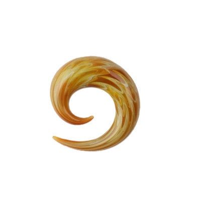 Exotic Gold Glass Simple Spiral