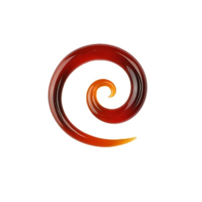 Amber Glass Super Spiral