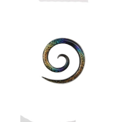 Rainbow Dichro Glass Super Spiral