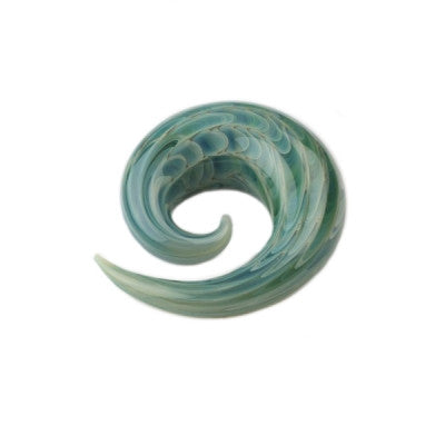 Exotic Aqua Glass Simple Spiral