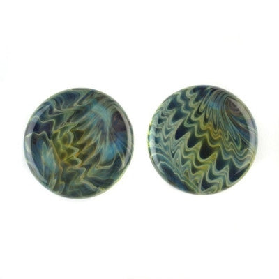 Exotic Aqua Glass Plugs