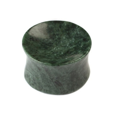 Green Italian Concave Marble Plug
