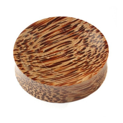 Concave Palm Wood Plug