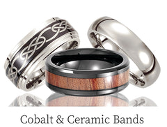 Cobalt Chrome Wedding Bands