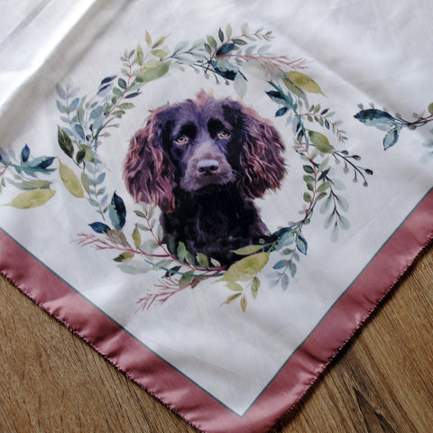 Long Skinny Scarves, All Over Print - Boykin Spaniel