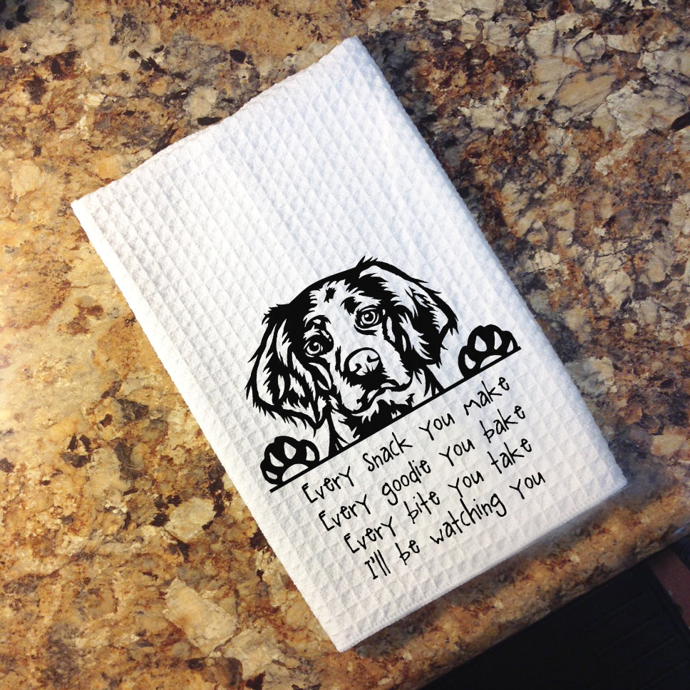 Tea Towel - Brittany Spaniel...I'll Be Watching you