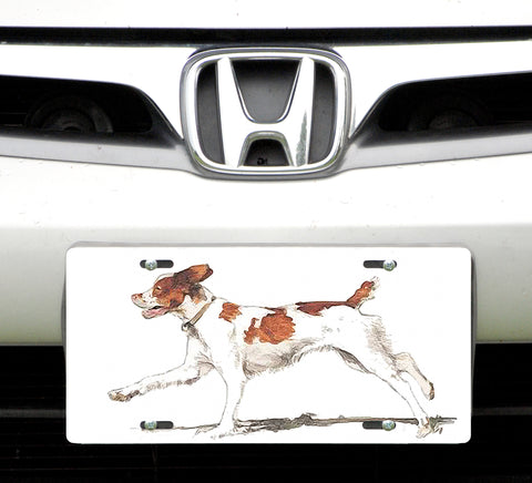 License plate, Brittany Spaniel
