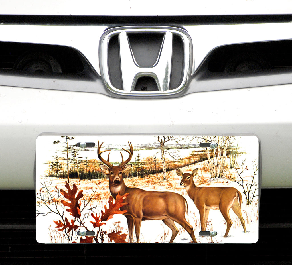 License plate, White Tail Deer
