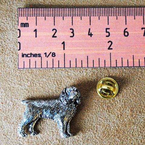 Spaniel Pewter Pin