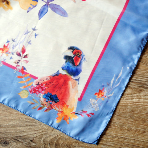 Long Skinny Scarves, All Over Print - Pheasant
