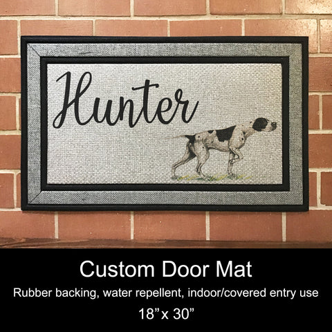"Custom Door Mat, 18"" x 30""- Pointer"