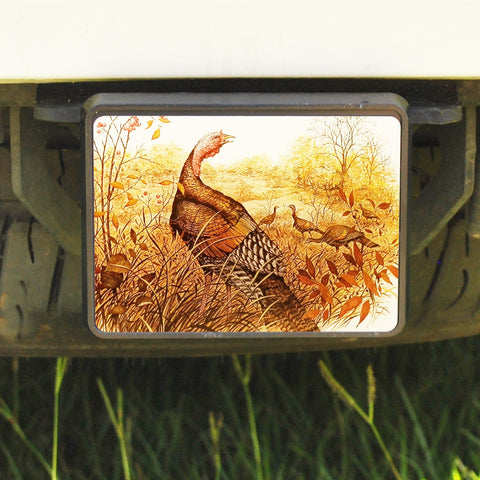 Rectangle Trailer Hitch Cover, Wild Turkey