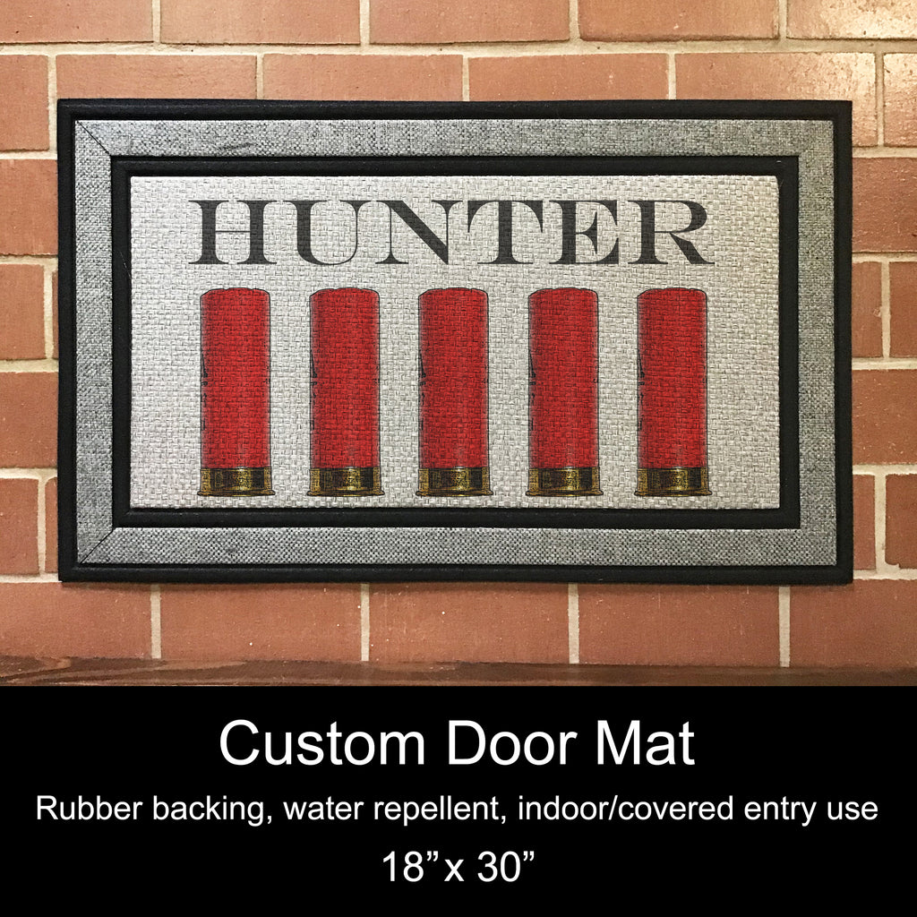 "Custom Door Mat, 18"" x 30""- Shotgun Shells"