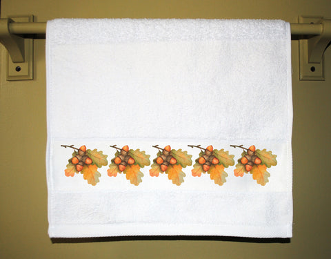 Acorns and Oak Leaves Guest Towel