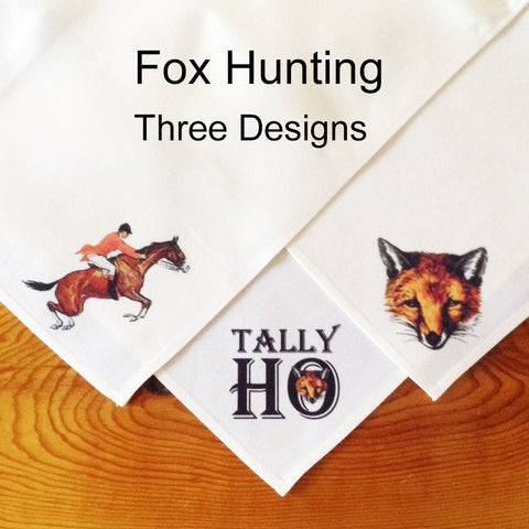 Table Linens, Set of Six - Fox Hunting, Three Designs