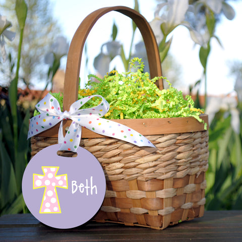 Easter Basket Tag, Cross