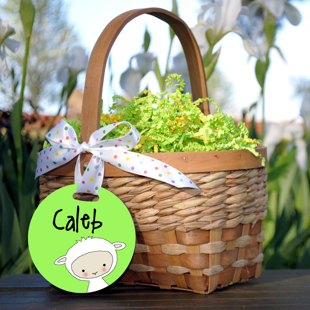 Easter Basket Tag, Lamb