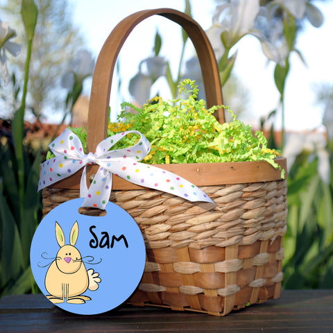 Easter Basket Tag, Tan Rabbit