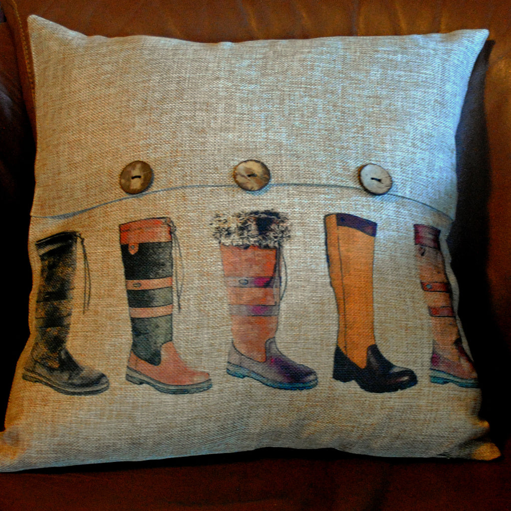 Boots Throw Pillow Cover