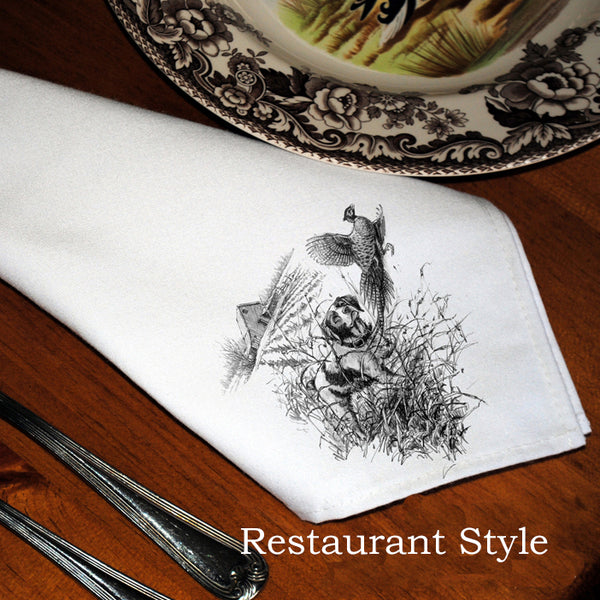 Table Linens, Set of Six - Brittany & Pheasant