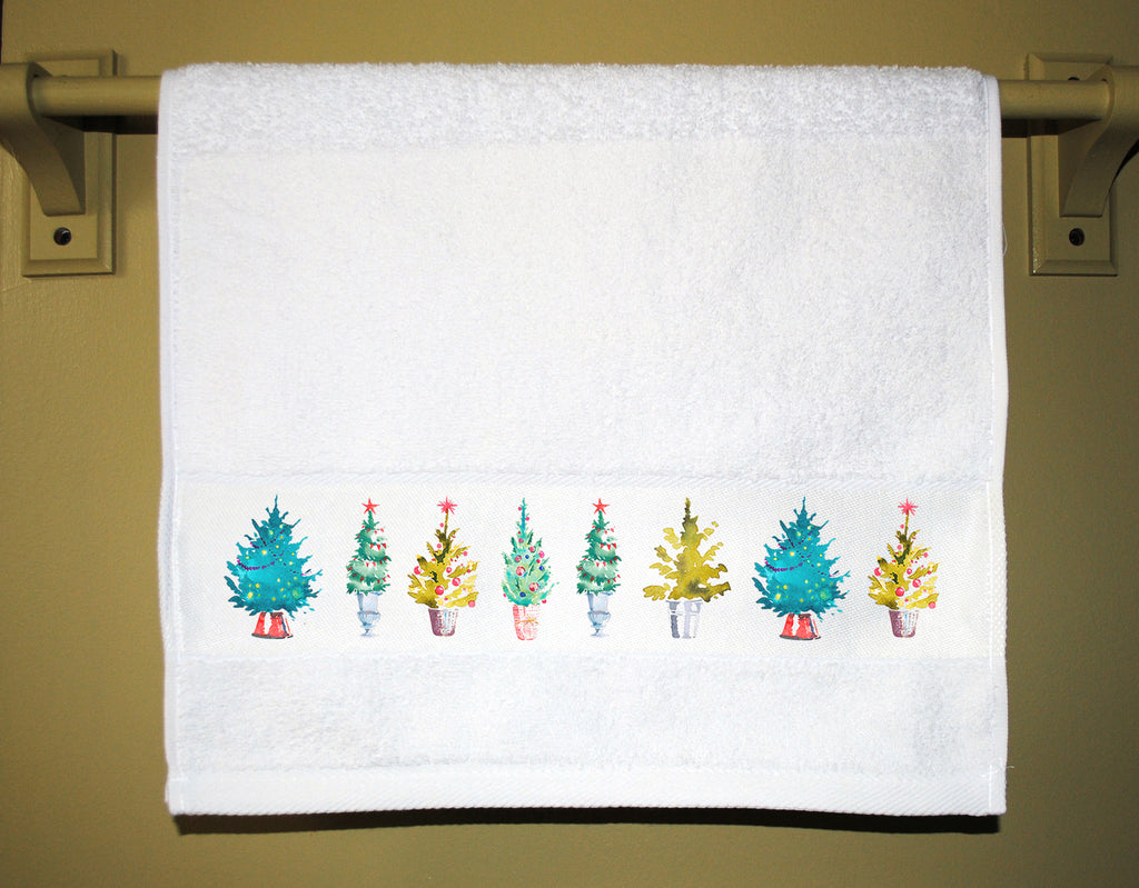 Little Christmas Trees Guest Towel