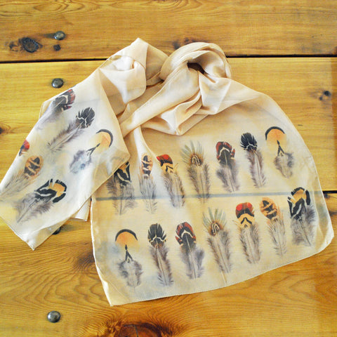 "Gamebird Feathers Ladies' ""Silky"" Scarf"