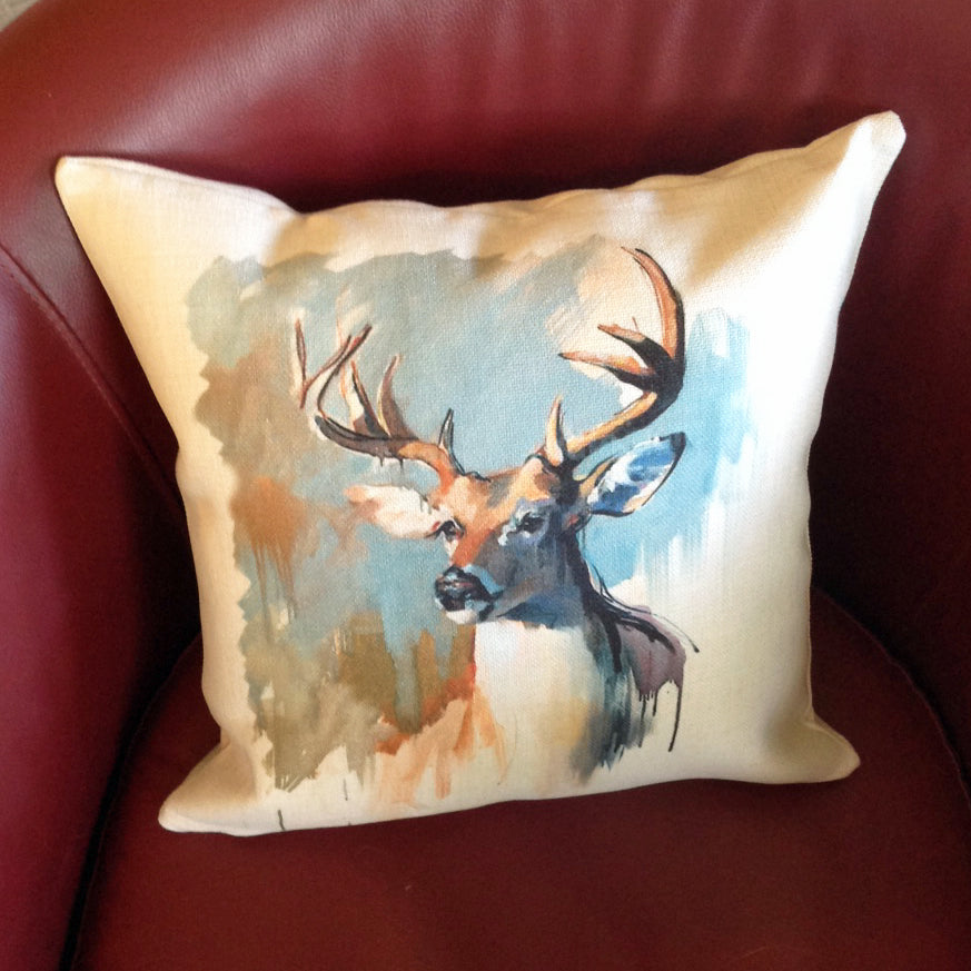 Whitetail Deer Throw Pillow Cover