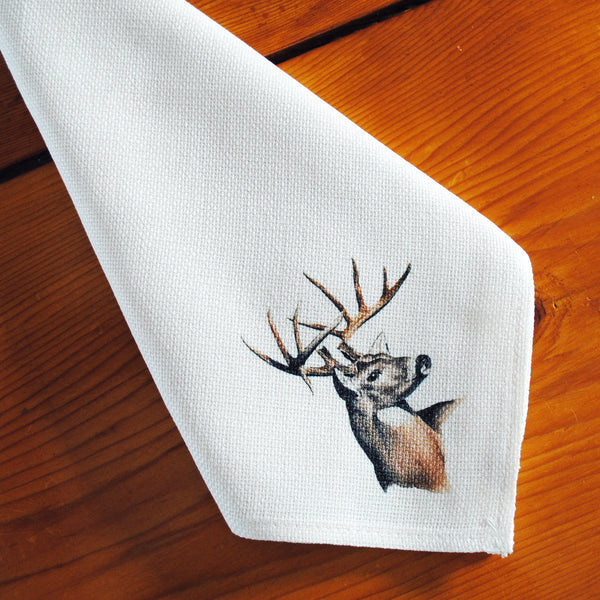 Table Linens, Set of Six - Whitetail Deer