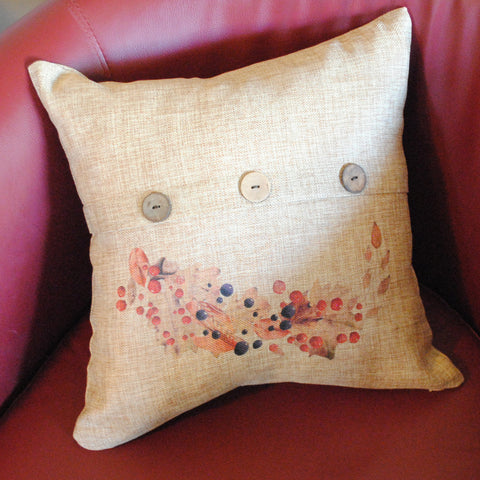 Fall Leaves and Berries Throw Pillow Cover