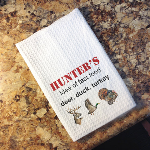 Tea Towel - Hunters' Fast Food