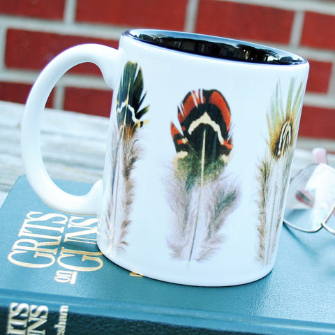 Game Bird Feathers Mug