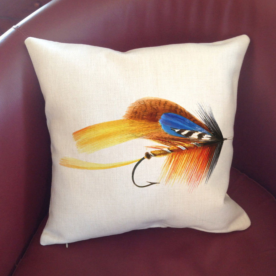 Fishing Fly Pillow Cover