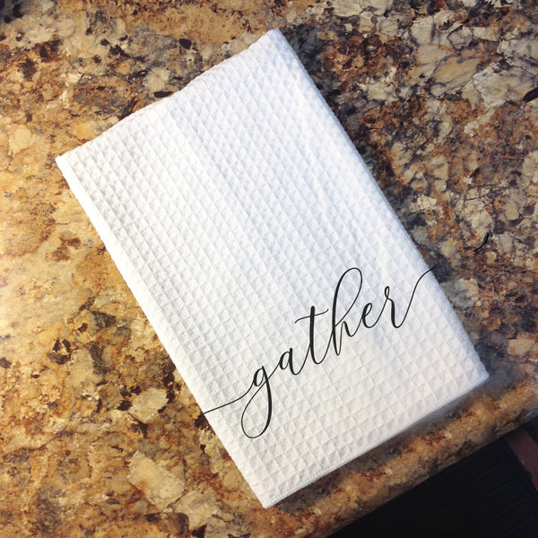 Tea Towel - blessed, gather, or together