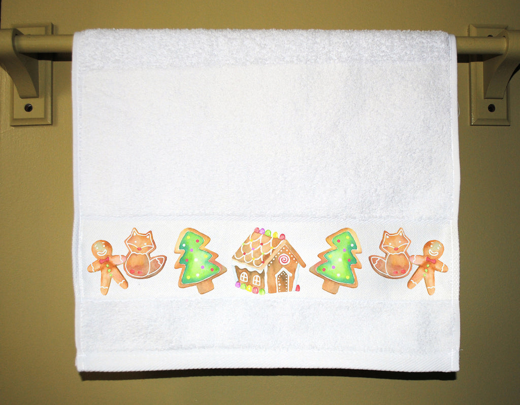 Holiday Gingerbread Guest Towel