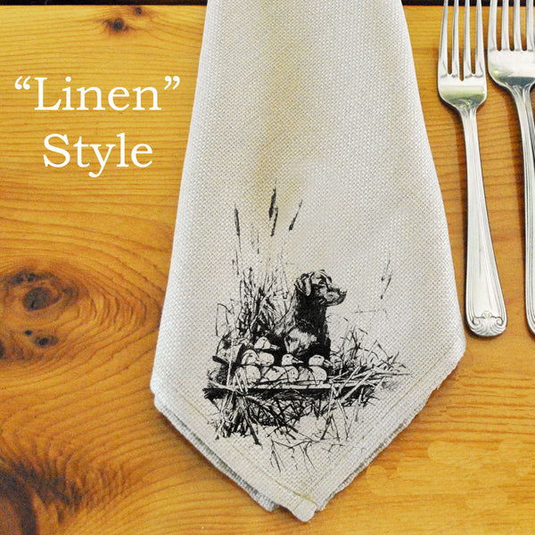 Table Linens, Set of Six - Labrador & Decoys