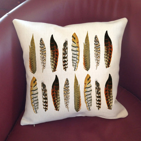 Pheasant Feathers Pillow Cover